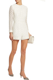Tony embroidered gauze playsuit