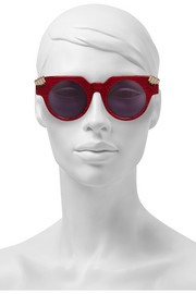 House of Holland Fister V2 round-frame acetate sunglasses