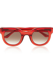 Celebrity D-frame acetate sunglasses