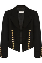 Saint Laurent Cropped wool-twill blazer