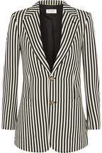 Striped wool-twill blazer