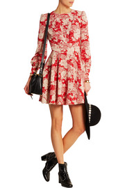 Saint Laurent Floral-print crepe mini dress