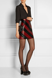 Striped python mini skirt