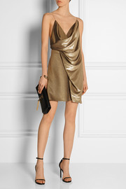 Saint Laurent Draped neck mini dress