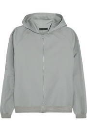 Cotton and silk-blend hooded jacket