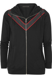 LAAIN Paneled stretch-jersey hooded jacket