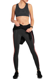 Paneled stretch-jersey sports bra