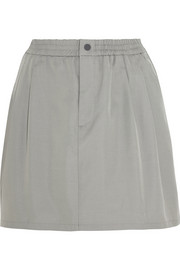 Cotton and silk-blend mini skirt