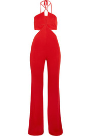 Cutout stretch-jersey jumpsuit