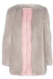 Gloria two-tone faux fur coat