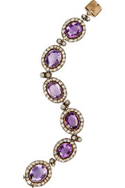Olivia Collings 1840s silver, amethyst and diamond bracelet
