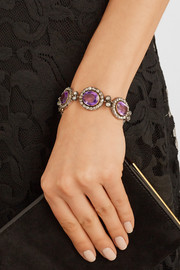 1840s silver, amethyst and diamond bracelet