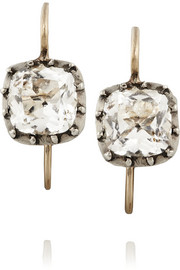 1830s silver rock crystal earrings