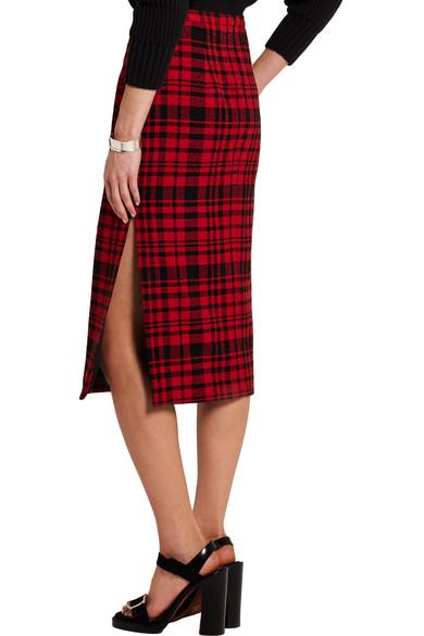 6ae7627bba No. 21 | Plaid cotton and linen-blend skirt | NET-A-PORTER.COM