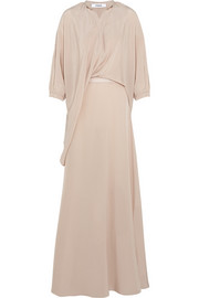 Chalayan Wave draped silk-crepe maxi dress