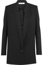 Split-side wool blazer
