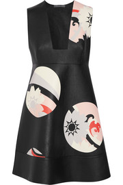 Alexander McQueen Printed leather mini dress