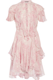 Alexander McQueen Printed silk-chiffon dress