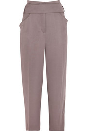Stretch-crepe wide-leg pants