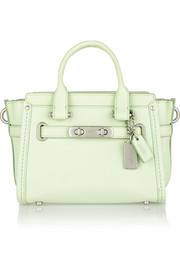 Coach Swagger 20 mini textured-leather tote