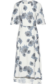 Mulberry Floral-print crepe dress