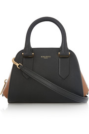 Elvida mini two-tone leather shoulder bag