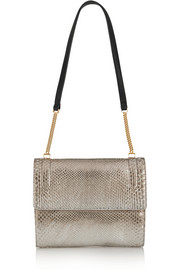 Elvida metallic python shoulder bag