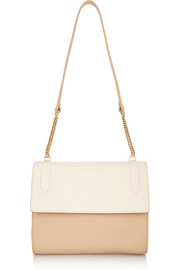 Elvida two-tone leather shoulder bag