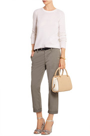 Elvida small two-tone leather tote