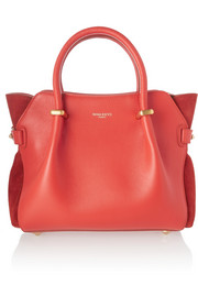Nina Ricci Le Marché small leather and suede tote