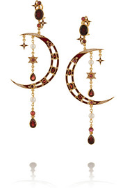 Diego gold-plated multi-stone earrings