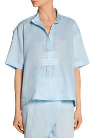 The Sleep Shirt Linen pajama top