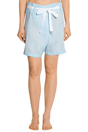 The Sleep Shirt Fisherman linen pajama shorts