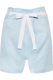Fisherman linen pajama shorts