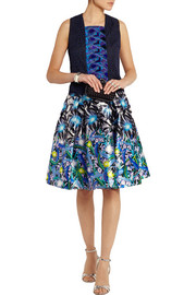 Peter Pilotto Printed silk-twill skirt