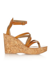 Cunegonde leather wedge sandals