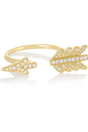 Arrow 18-karat gold diamond ring