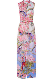 Mary Katrantzou Tinld printed silk-twill maxi dress