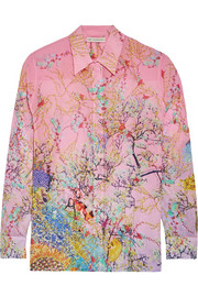 Mary Katrantzou Gala printed silk-georgette shirt