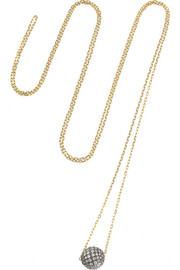 Disco Ball 18-karat gold diamond necklace