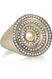Eternity Step 18-karat gray gold diamond ring