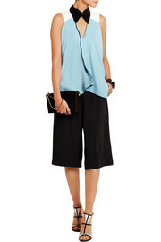 Roland Mouret Rycote color-block stretch-crepe top