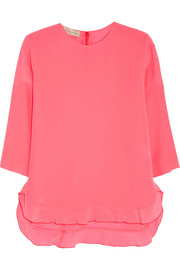 Stella McCartney Ruffled silk crepe de chine top