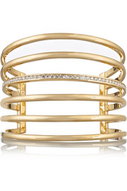 14-karat gold diamond cuff