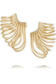 Sonic 14-karat gold ear cuffs