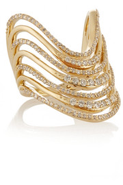 Lynn Ban Crest 14-karat gold diamond ring