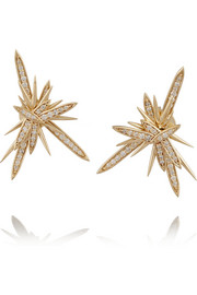 Atomic 14-karat gold diamond earrings