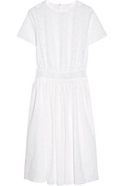 Cotton-blend broderie anglaise midi dress