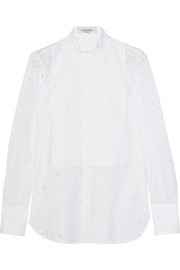 Broderie anglaise cotton shirt