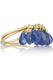 18-karat gold sapphire interlinked rings